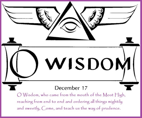 Image result for o wisdom antiphon